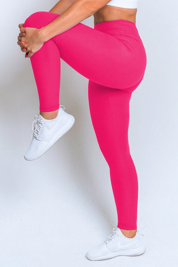 High Waisted Leggings – Hot Pink
