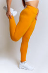 High Waisted Leggings – Mustard