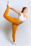 High Waisted Leggings – Mustard - MELTED FITNESS