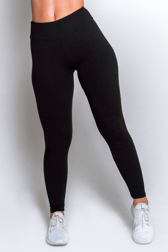 High Waisted Leggings – Black - MELTED FITNESS