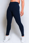 High Waisted Leggings – Navy - MELTED FITNESS