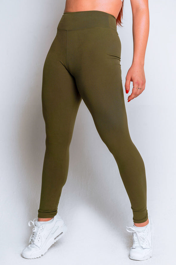 High Waisted Leggings – Olive - MELTED FITNESS
