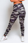 Camo High Waisted Leggings – Grey