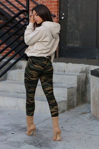 Camo High Waisted Legging - Green - MELTED FITNESS