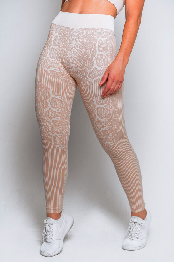 Snakeskin Seamless Set - Latte