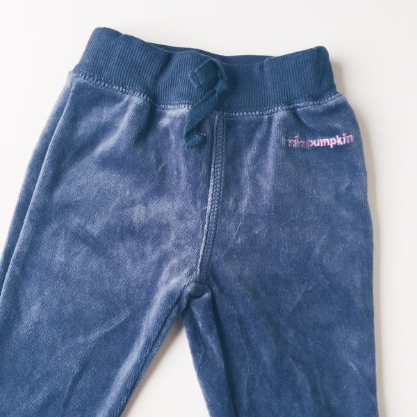 Pumpkin Patch velour trackies</br>Size 0-3 months