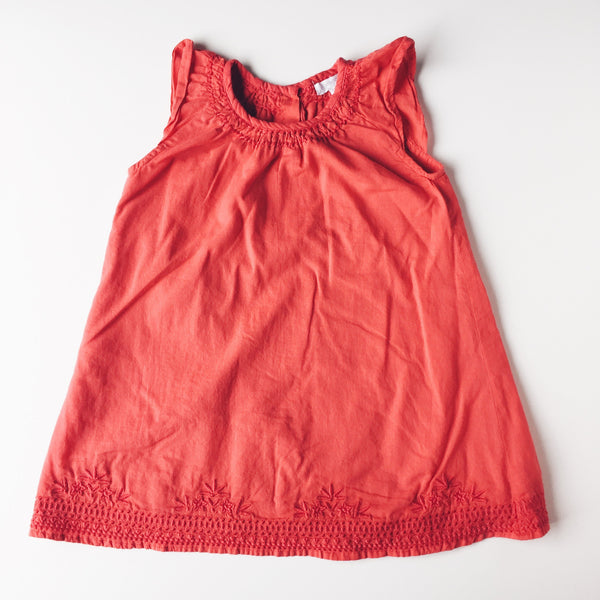 Dress - Purebaby Red Dress With Bloomers</br>12-18 Months