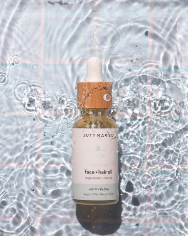prickly pear hydrating face + hair oil