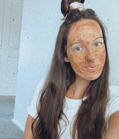 rose pink clay face mask