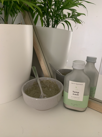 hemp clay face mask - IRL review