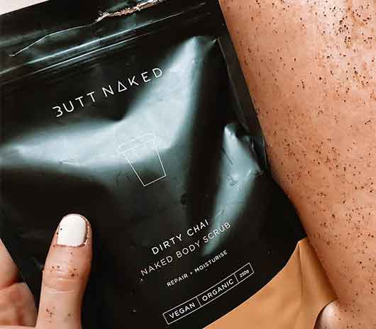 dirty chai coffee body scrub