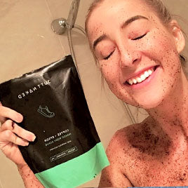 coffee + epsom body scrub