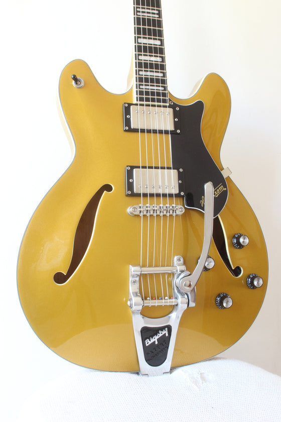 Hagstrom Viking Deluxe Semi-Hollow Gold 2007