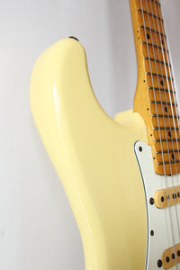 Fender Japan '57 Reissue Stratocaster ST57-70 Scalloped Board Vintage White 1987