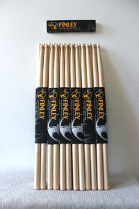 Finley Drumsticks 5A Wood Tip * 12 PAIRS *