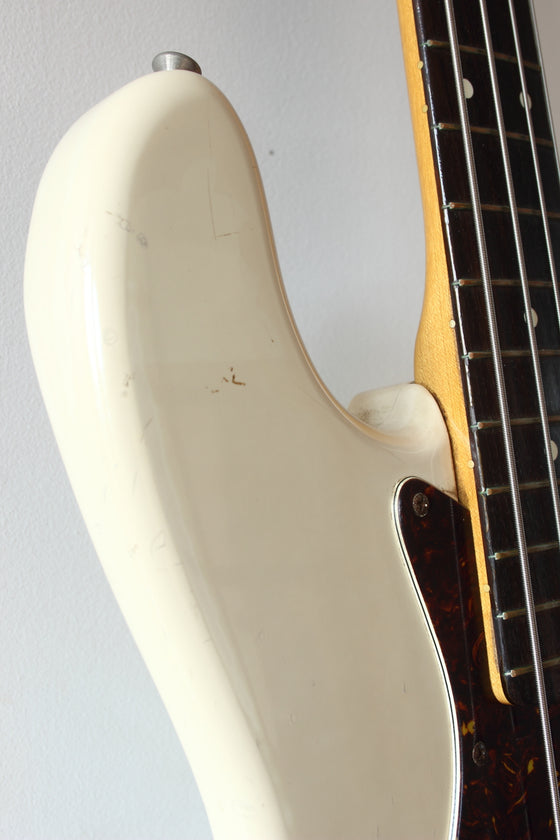 Squier MIJ Jazz Bass JV-Serial SJB-55 Vintage White 1984