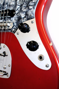 Used Fender Jaguar '66 Reissue Candy Apple Red Black Guard