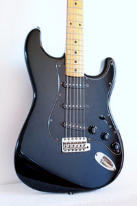 Used Squier Stratocaster Silver Series Black 1992/93