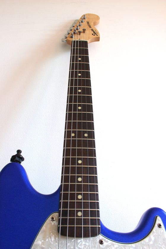 Used Squier Vintage Modified Mustang Competiton Blue Modded