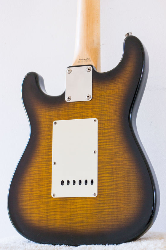 Fender Japan 'Smart Size' Mini Stratocaster MST40 Flame Sunburst 1993