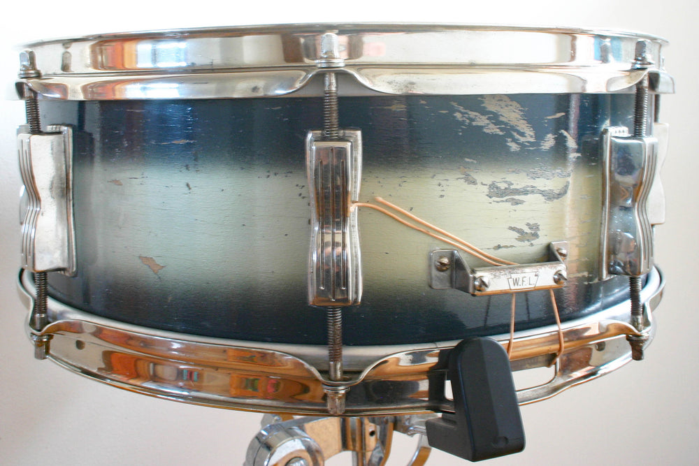 Used Ludwig Jazz Festival Snare Drum Blue/Gold Duco 1964