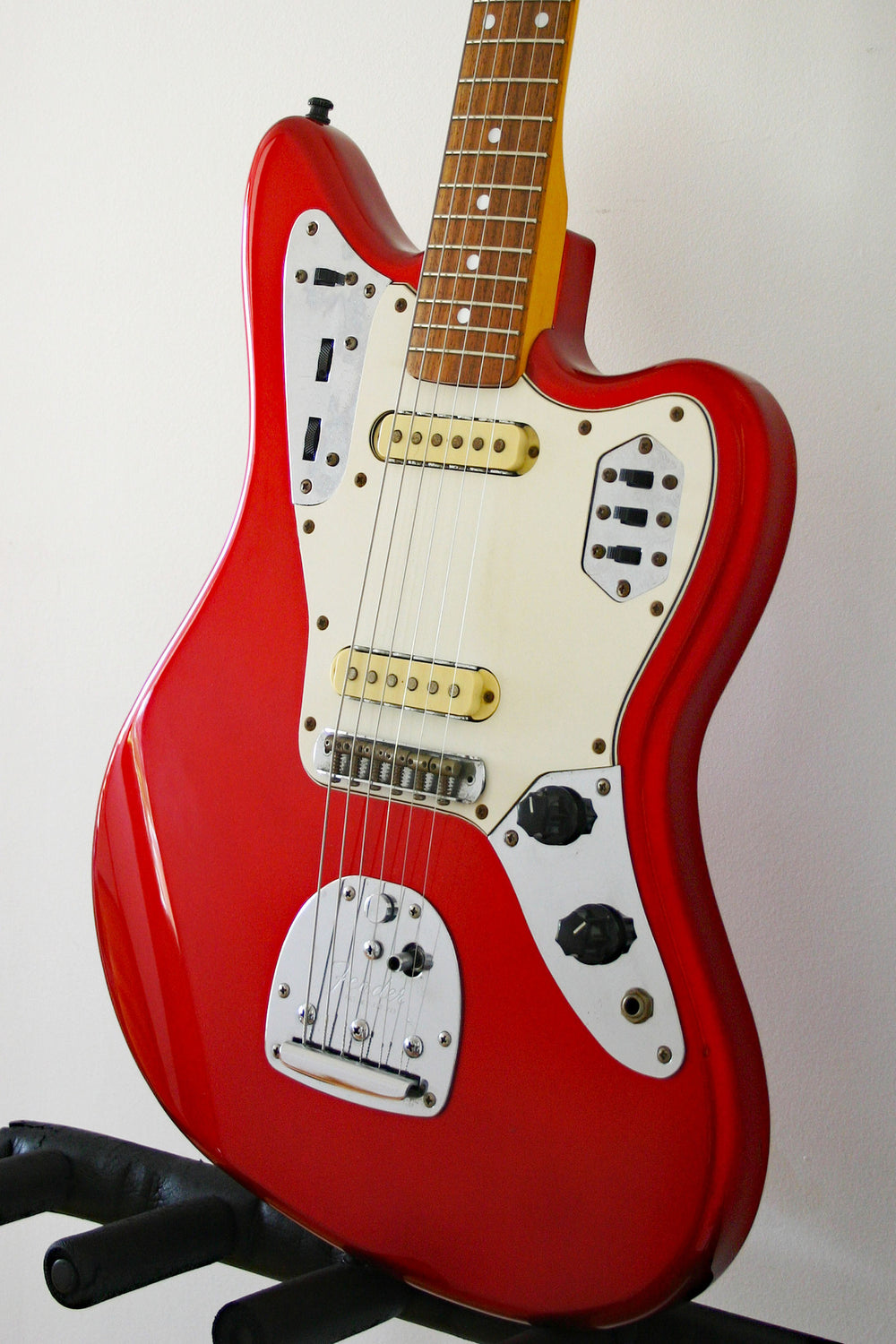Used Fender Jaguar '66 Reissue Candy Apple Red 50th Anniversary