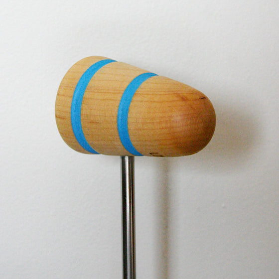 Low Boy Standard Beater Natural with Shock Blue Stripes