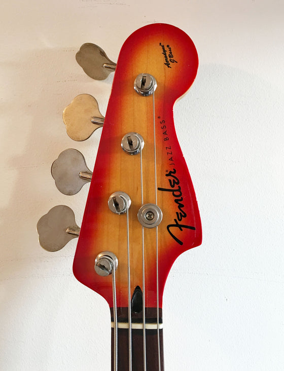 Used Fender Aerodyne Jazz Bass Fireglo