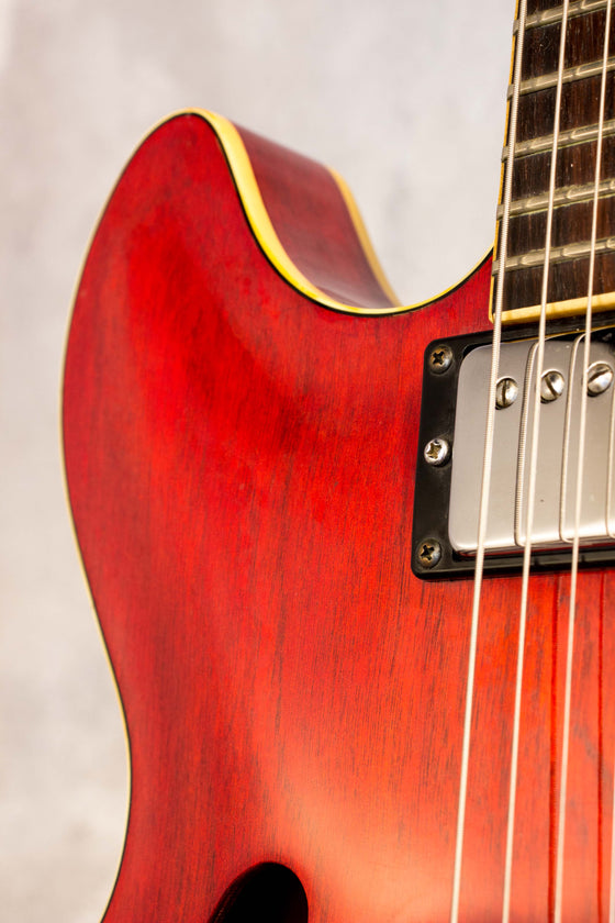 Yamaha SA700 Super Axe Semi-Hollow Persimmon Red 1977