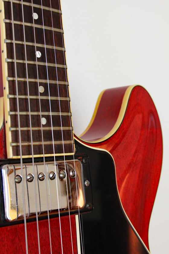 Used Yamaha SA700 Super Axe Semi-Hollow Transparent Red 1979