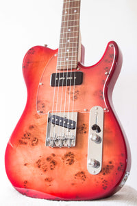 Bacchus Universe Series Tactics-BP Tele Style Red Burst 2017