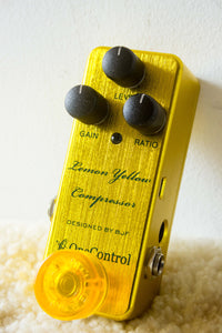 One Control Lemon Yellow Compressor Pedal
