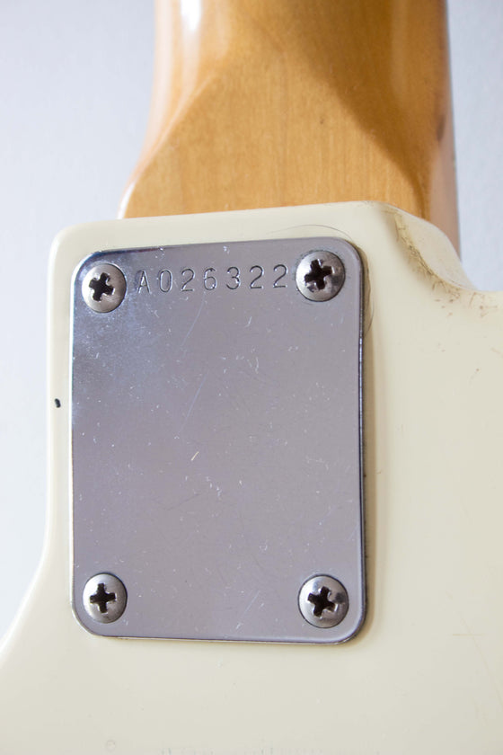Squier MIJ Jazz Bass A-Serial SJB-55 Arctic White 1985