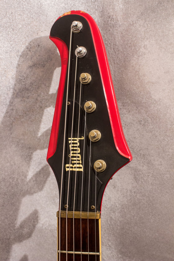 Burny FB-80Z Firebird Style Cardinal Red 1990