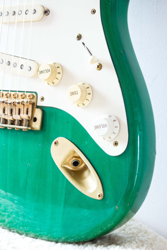 Fender Japan '57 Reissue Stratocaster ST57G-65 Transparent Green 1993/4