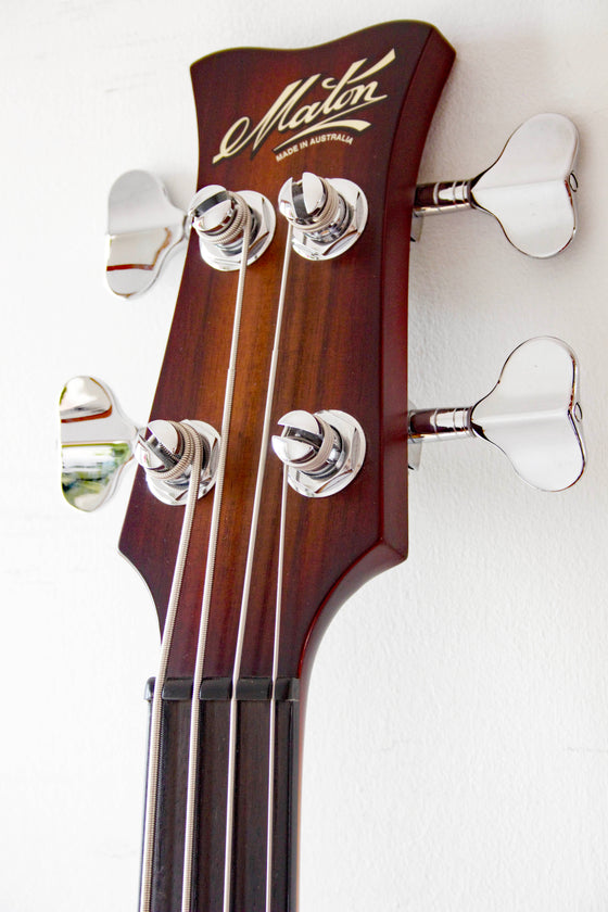 Maton JB4 Fretless Bass Satin Tobacco Burst 2014