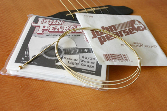 John Pearse Acoustic Steel String Set 80-20 Bronze 12/53