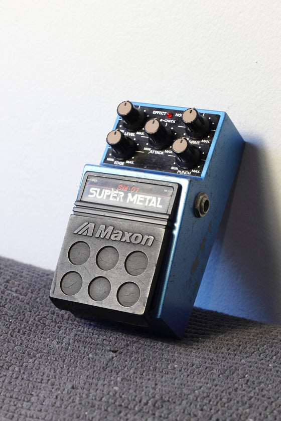 Maxon SM-01 Super Metal Distortion Pedal c1988