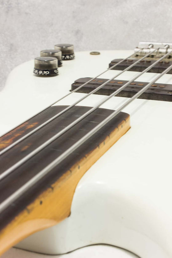 Yamaha Super Bass SB500S Fretless White 1981