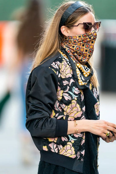 silk scarf face mask olivia palermo - my friend paco