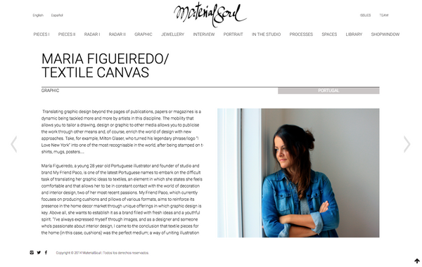 material soul interview with maria figueiredo, founder of My Friend Paco homewares brand