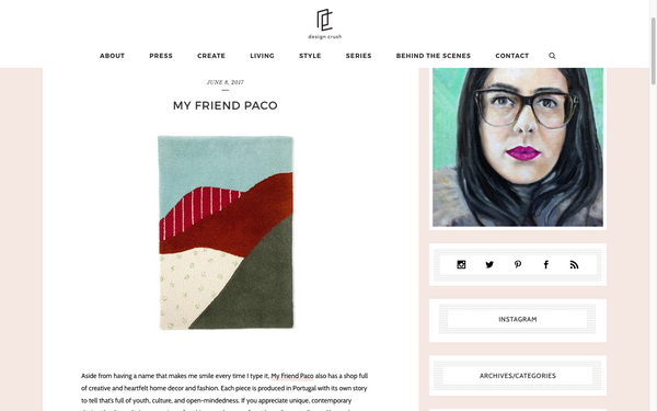 My Friend Paco homewares at Design Crush Blog