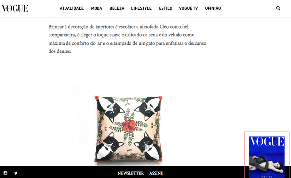 Cleo silk cushion My Friend Paco at Vogue portugal