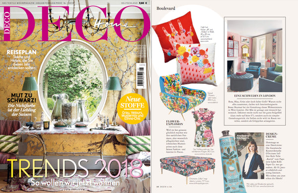 Deco Home Germany features my friend paco cotton printed cushions