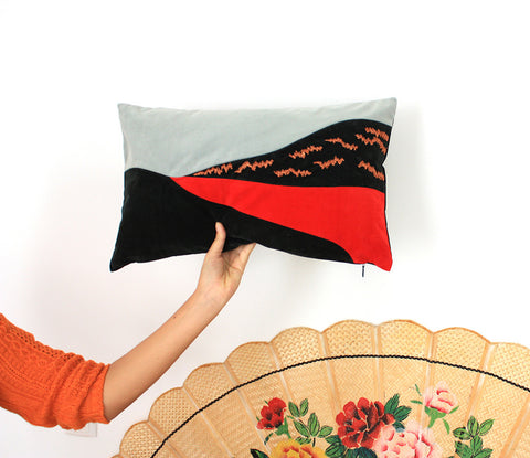 embroiedered pillow