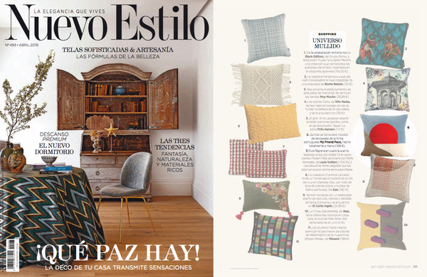 Sunrise Velvet deluxe pillow My Friend Paco at Nuevo Estilo espana magazine