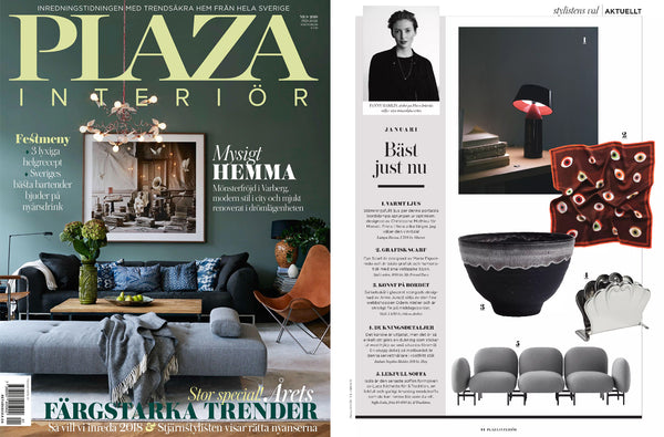 eye silk scarf by my friend paco at scarf plaza interior swedish magazine