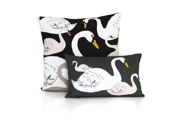 Swan decorative cushion for home decoration by My Friend Paco