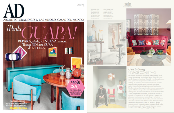 AD spain features designer cushions by my friend paco