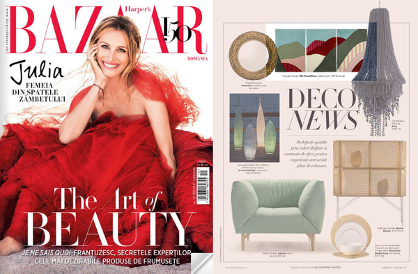 My Friend Paco hand tufted wool rugs at Harpers Bazaar magazine, Romania